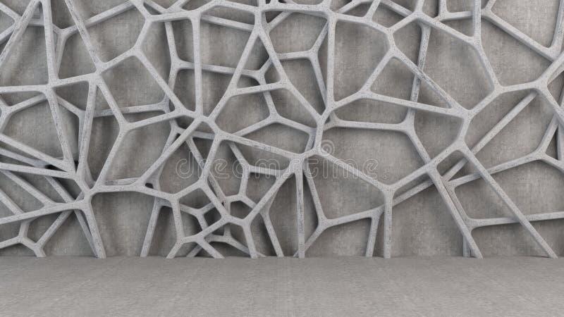 Abstrakt betonowa 3d kratownica ilustracja wektor