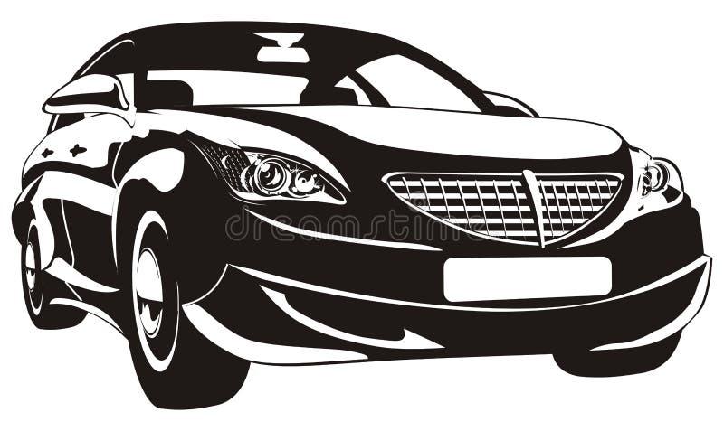 abstrakt bil isolerad vektor royaltyfri illustrationer
