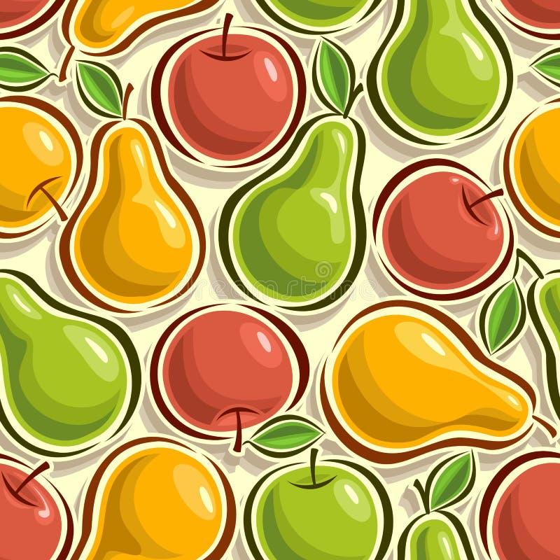 Abstrakt bild av äpplen och päron royaltyfri illustrationer