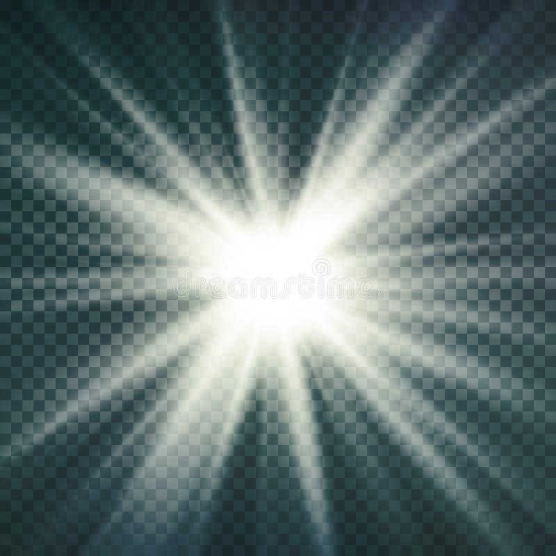 Abstrakt bild av belysningsignalljuset Ljus effekt för glöd Isolerat på genomskinlig bakgrund också vektor för coreldrawillustrat stock illustrationer