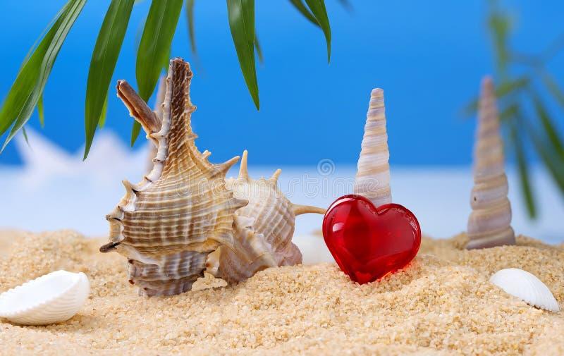 Abstrakt bild av en ferie på havet i sommaren arkivbilder