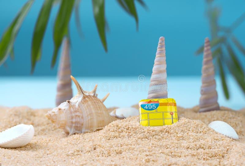 Abstrakt bild av en ferie på havet i sommaren royaltyfri fotografi