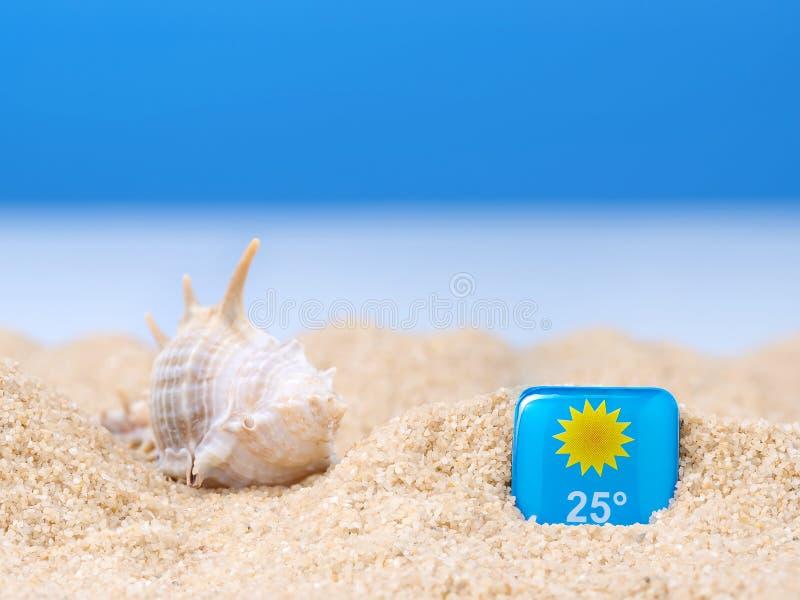 Abstrakt bild av en ferie på havet i sommaren arkivfoto