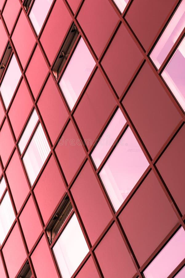 Abstrakt bild av en modern byggnad arkivfoton