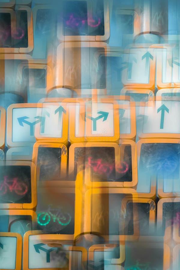 Abstrakt bild av en trafikljus royaltyfria bilder