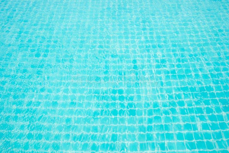 Abstrakt bildyttersida av blått simbassängvatten royaltyfri fotografi