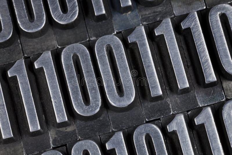 abstrakt binära nummer royaltyfri foto