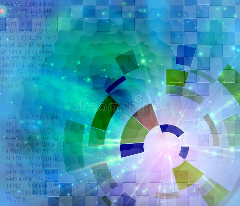 abstrakt binary stock illustrationer