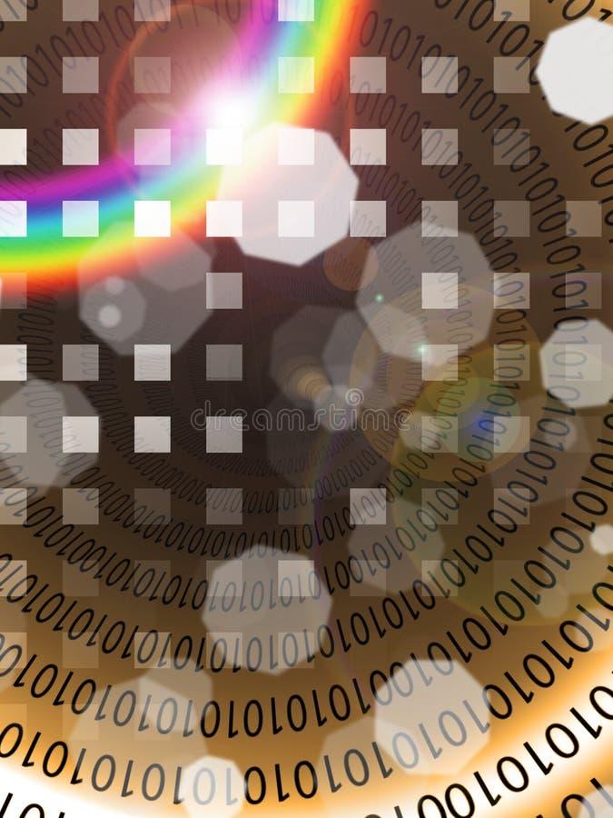 abstrakt binary vektor illustrationer