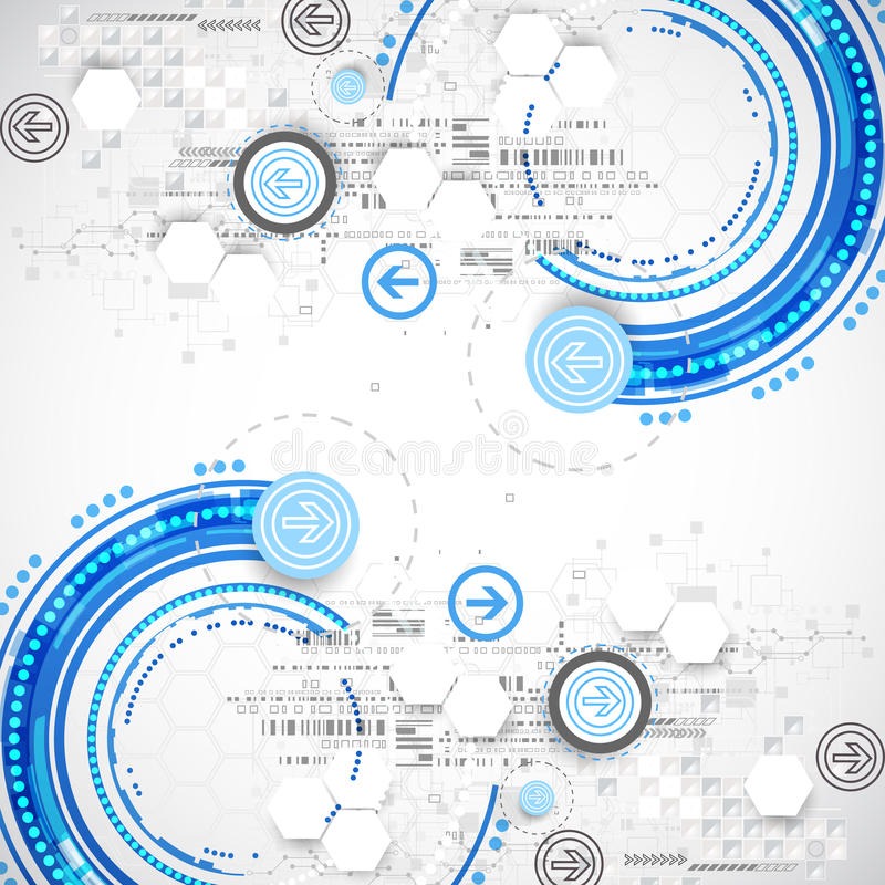 Abstrakt blå affärsvetenskap eller teknologibakgrund vektor illustrationer