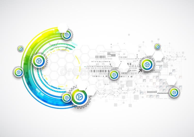 Abstrakt blå affärsvetenskap eller teknologibakgrund royaltyfri illustrationer