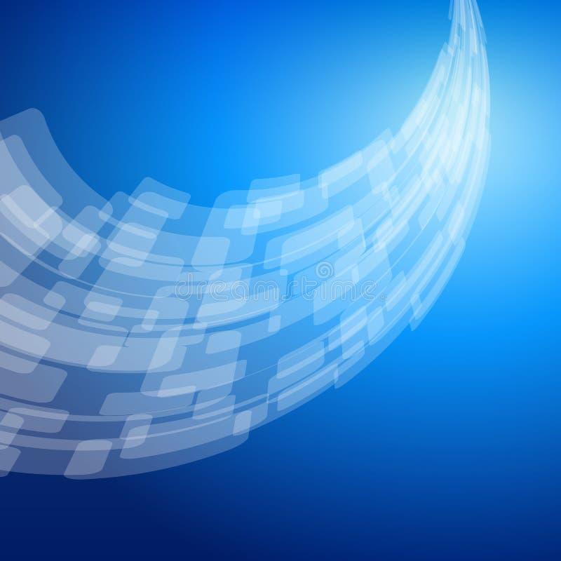 Abstrakt blå bakgrund royaltyfri illustrationer