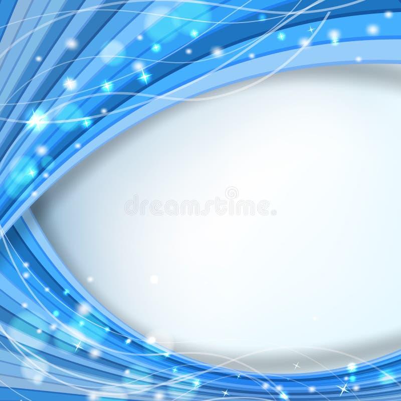 Abstrakt blå bakgrund vektor illustrationer