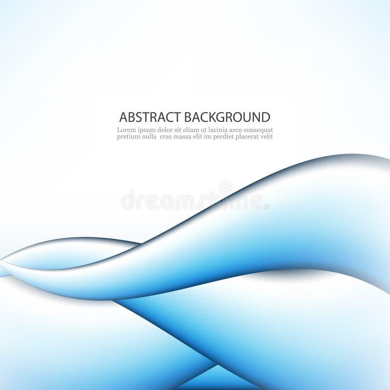 Abstrakt blå bakgrund, futuristisk krabb vektorillustration eps10 stock illustrationer