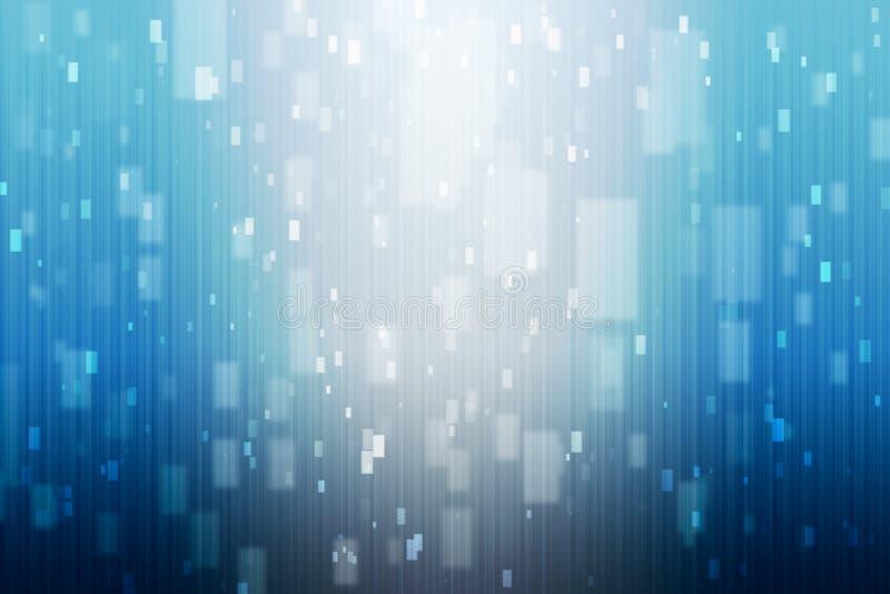 Abstrakt blå bakgrund med blåa och vita ljus arkivfoto