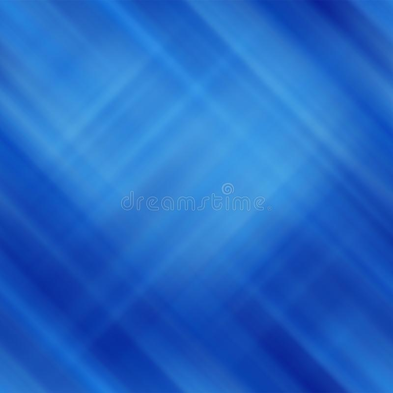 Abstrakt blå bakgrund med suddiga diagonala linjer royaltyfri illustrationer