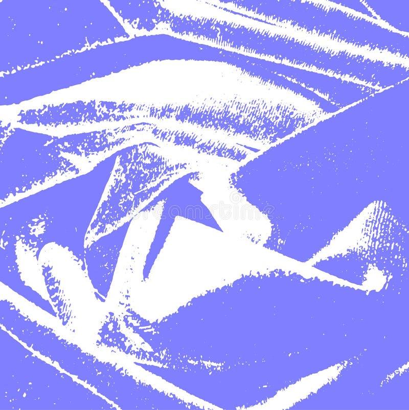 Abstrakt bl? bakgrund med vita best?ndsdelar stock illustrationer