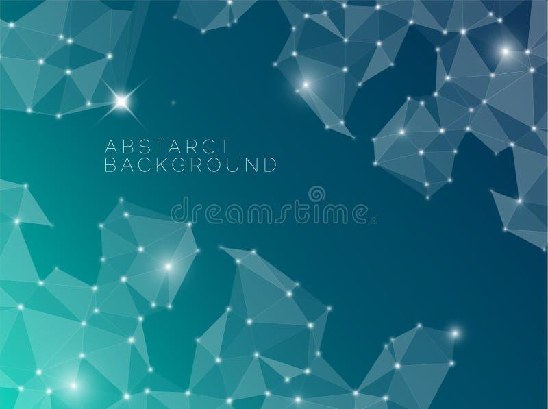 Abstrakt blå bakgrund som göras från trianglar vektor illustrationer