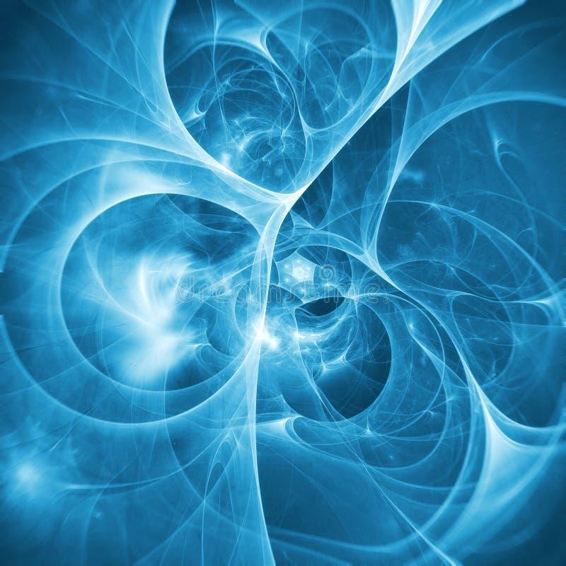 Abstrakt blå bakgrundsrökfractal stock illustrationer