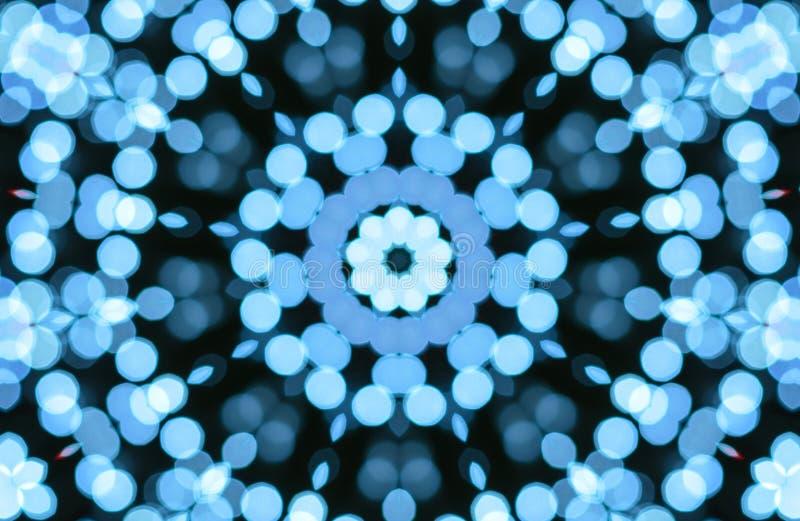 Abstrakt blå bokehljusmodell stock illustrationer