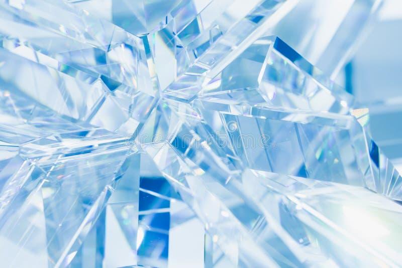 Abstrakt blå crystal bakgrund royaltyfri bild