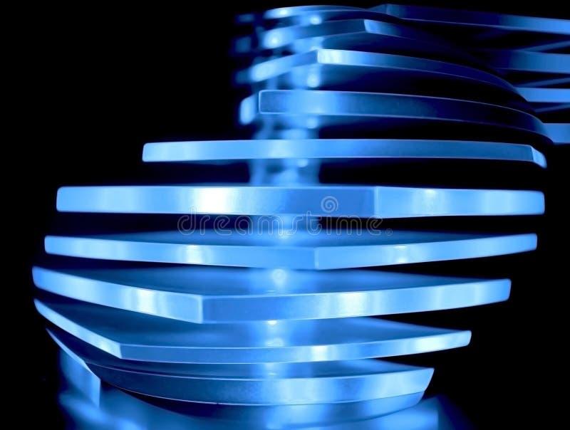 abstrakt blå dekorativ lampa arkivbilder