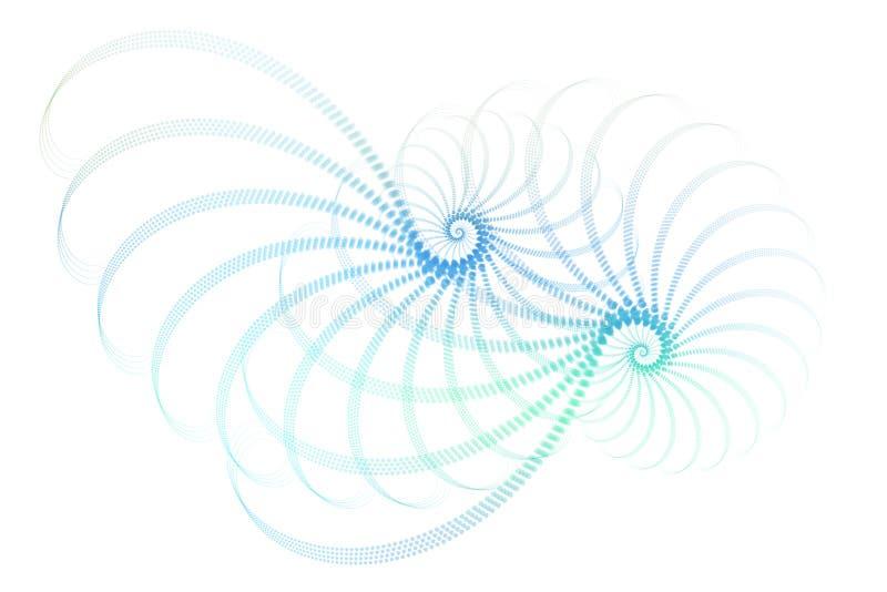 abstrakt blå designfractalwhite vektor illustrationer