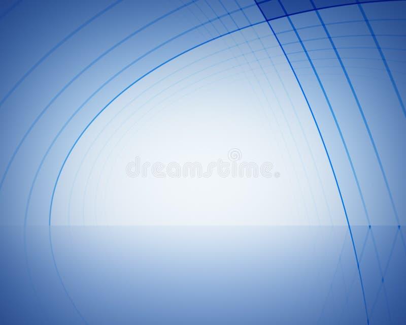 abstrakt blå etapp royaltyfri illustrationer