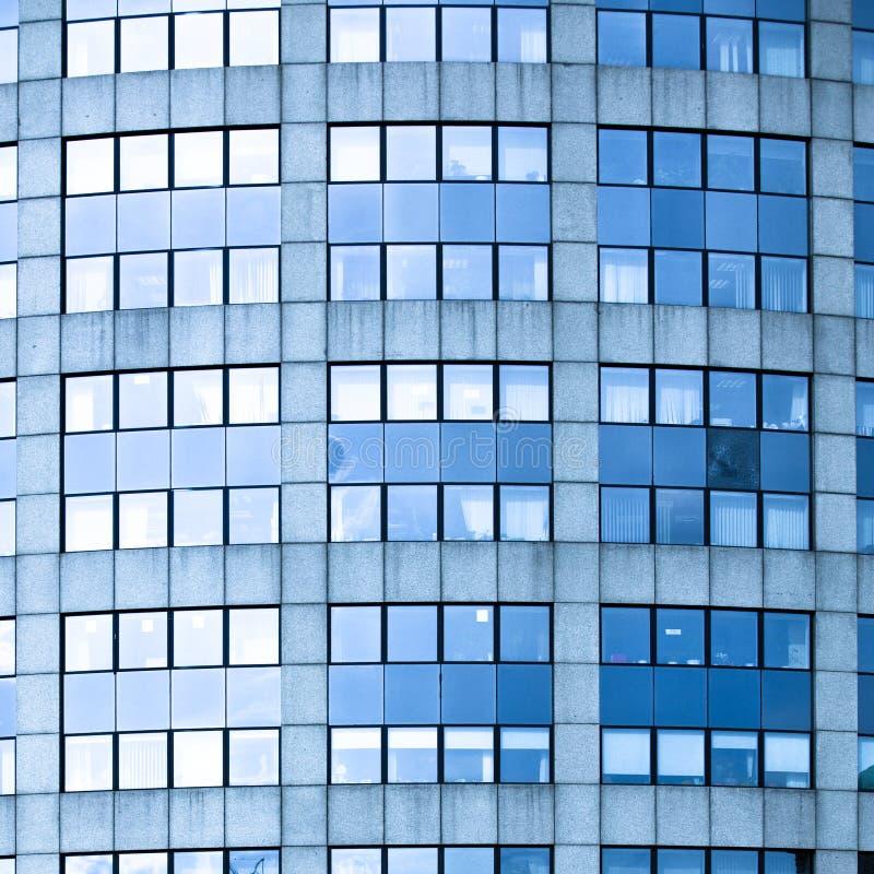 abstrakt blå fyrkant för affärskantjusteringskontor royaltyfri foto
