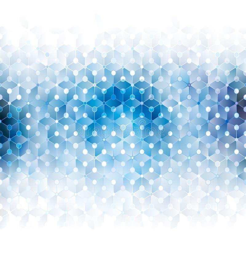 Abstrakt blå geometrisk bakgrund stock illustrationer