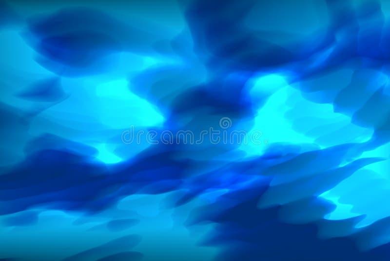 Abstrakt blå grotta - kosmisk dimma royaltyfri bild