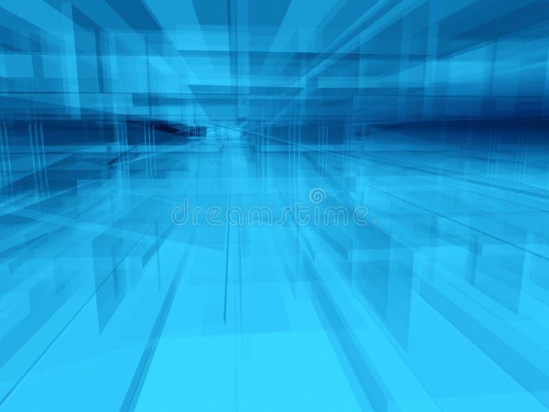 abstrakt blå interior royaltyfri illustrationer
