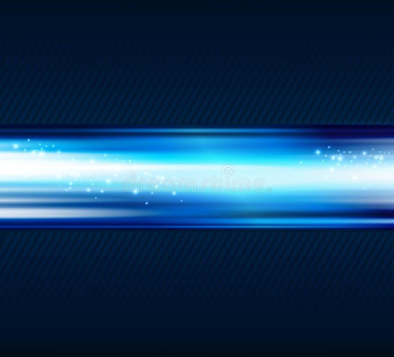 Abstrakt blå ljus skinande bakgrund stock illustrationer