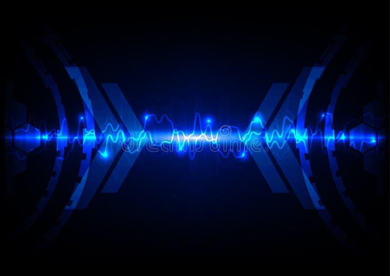 Abstrakt blå ljus teknologi c royaltyfri illustrationer