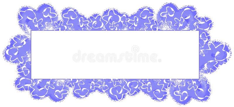 abstrakt blå logosidarengöringsduk royaltyfri illustrationer