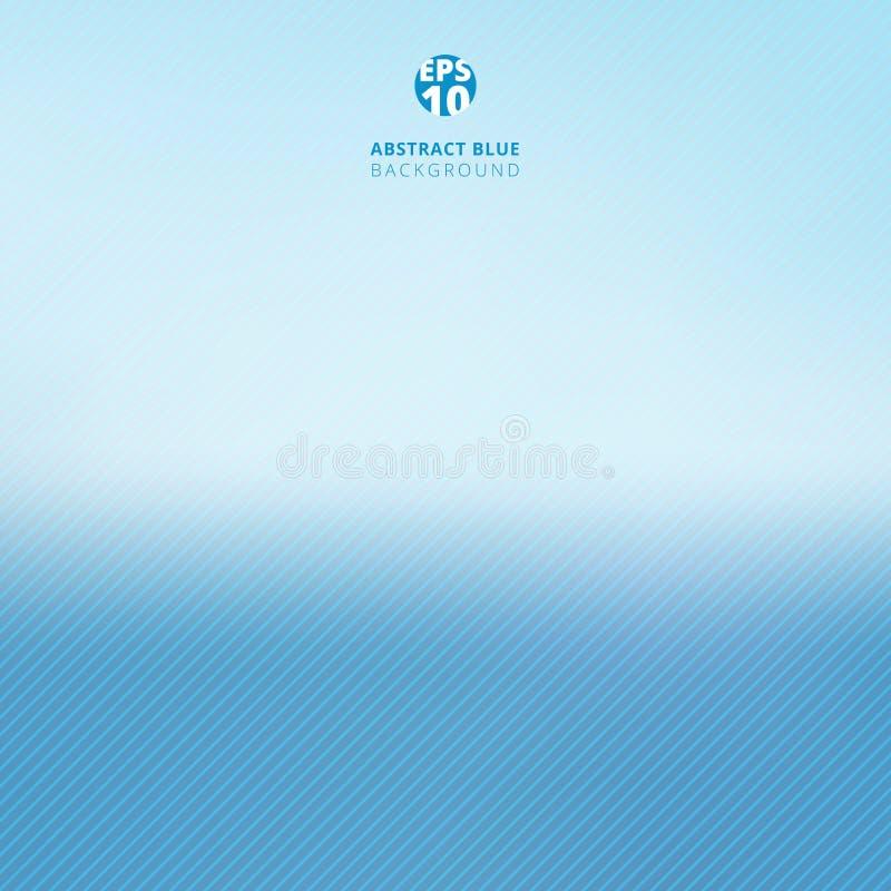 Abstrakt blå lutningbakgrund och linje modelltextur royaltyfri illustrationer