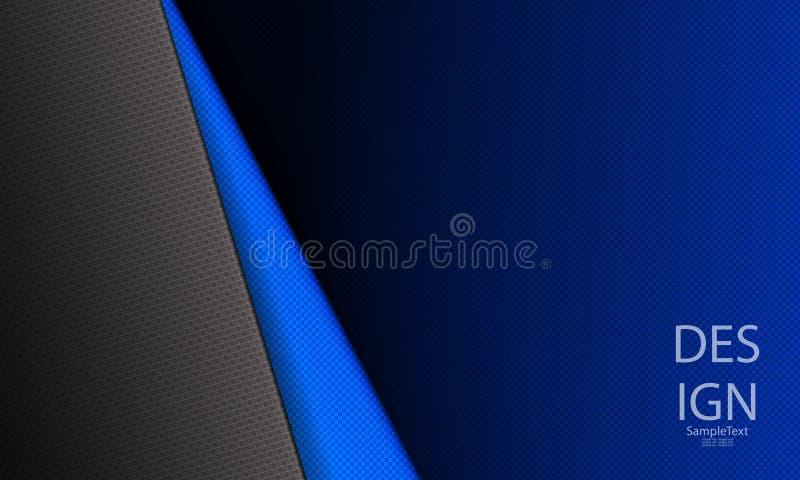 Abstrakt blå mörk räfflad design med ett mörkt hörn vektor illustrationer