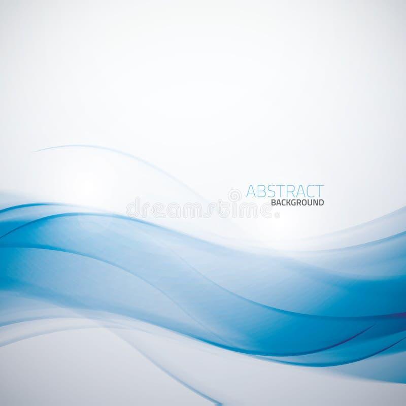 Abstrakt blå mall ve för affärsvågbakgrund stock illustrationer