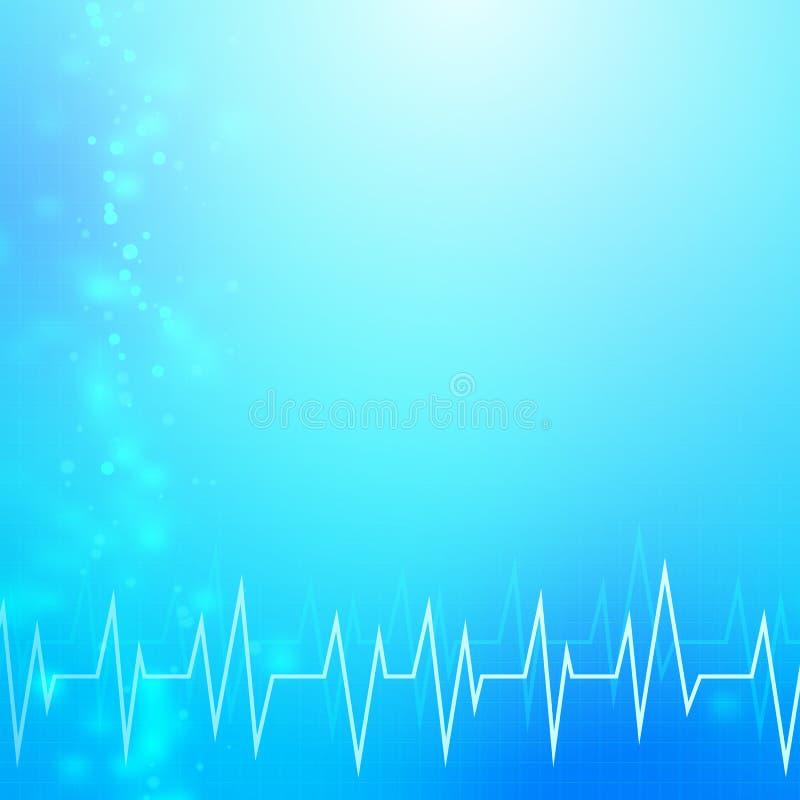 Abstrakt blå medicinsk bakgrund vektor illustrationer