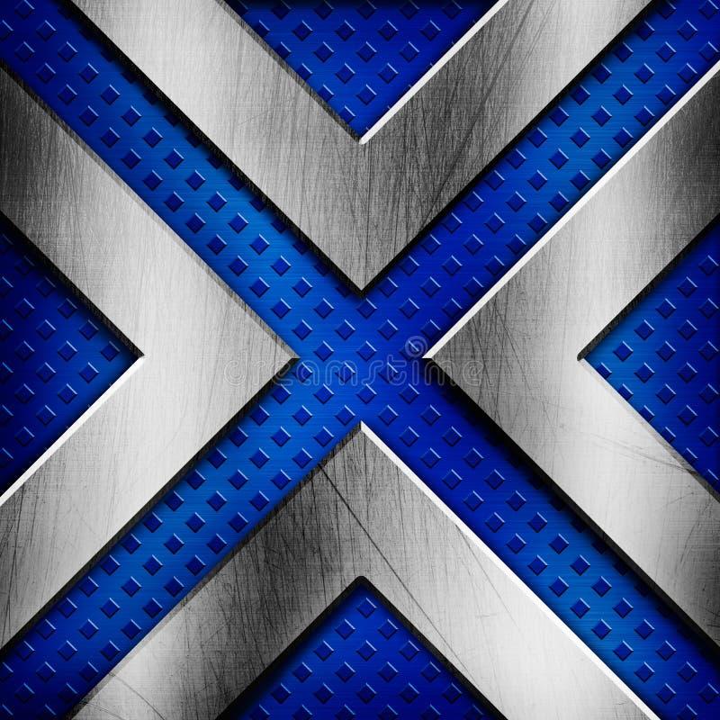 Abstrakt blå metallisk textur vektor illustrationer