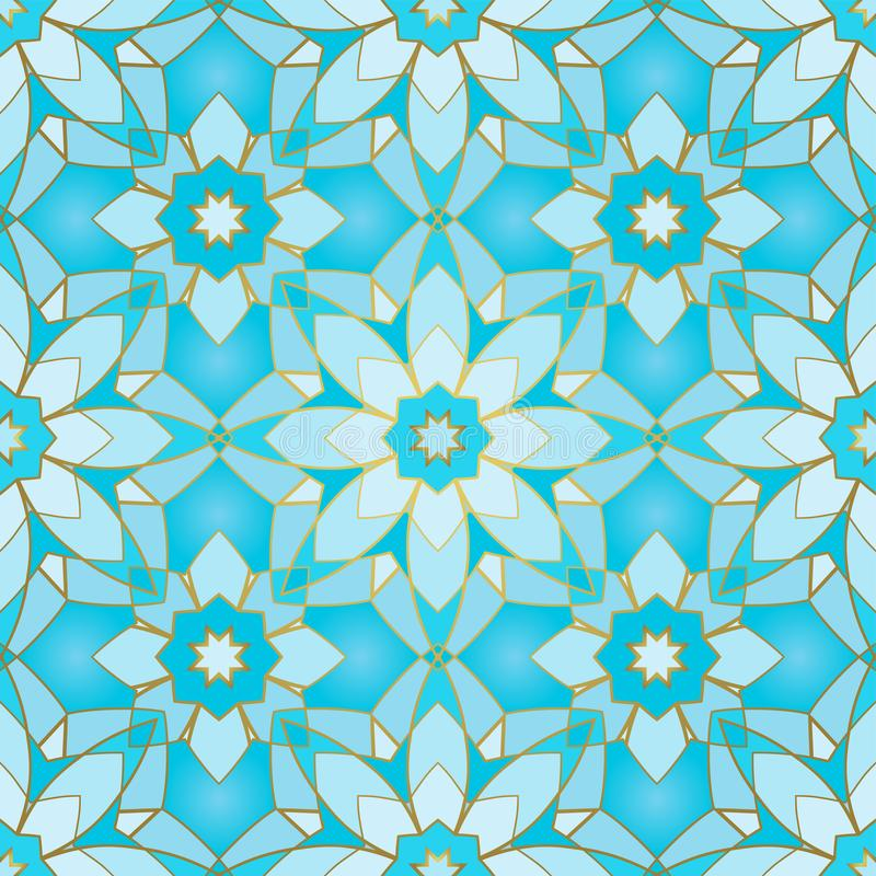 abstrakt blå modell stock illustrationer