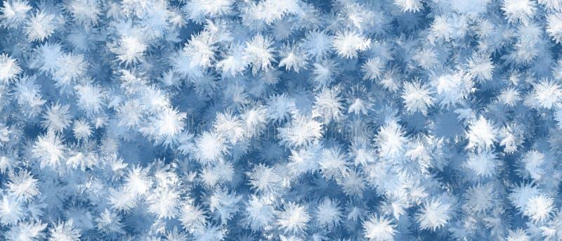 Abstrakt blå och vit snöflingamodell m?la redslagl?ngdvattenf?rgen vit fotografering för bildbyråer
