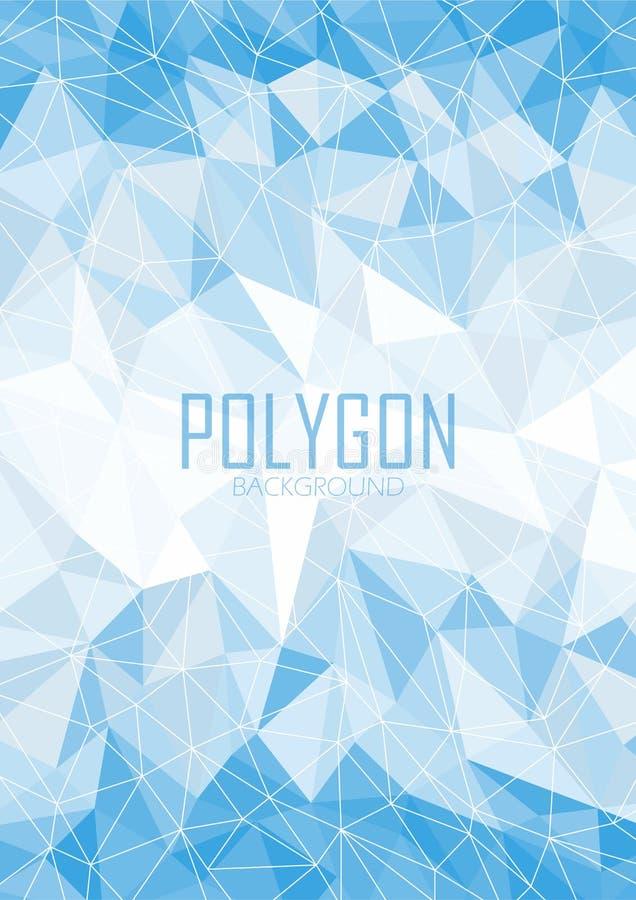 Abstrakt blå polygonbakgrund stock illustrationer