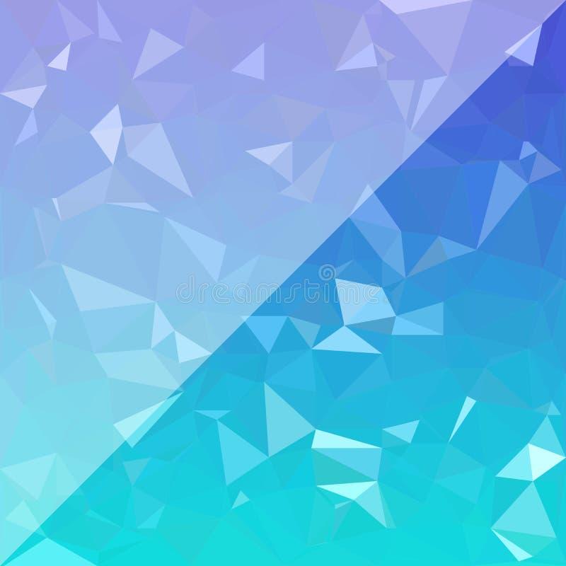 Abstrakt blå polygonbakgrund också vektor för coreldrawillustration royaltyfri illustrationer