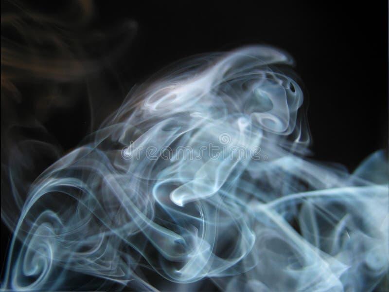 abstrakt blå rök