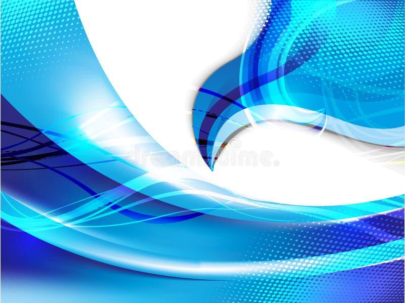 Abstrakt blå rengöringsdukbakgrund royaltyfri illustrationer