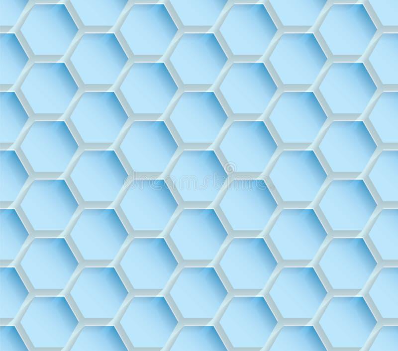 abstrakt blå seamless textur stock illustrationer
