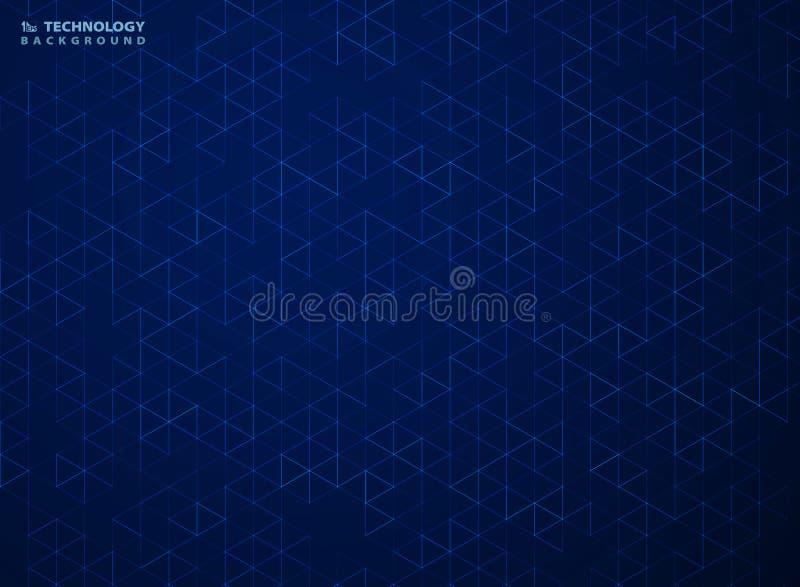 Abstrakt blå sexhörningsmodell av geometrisk bakgrund för teknologi Illustrationvektor eps10 royaltyfri illustrationer