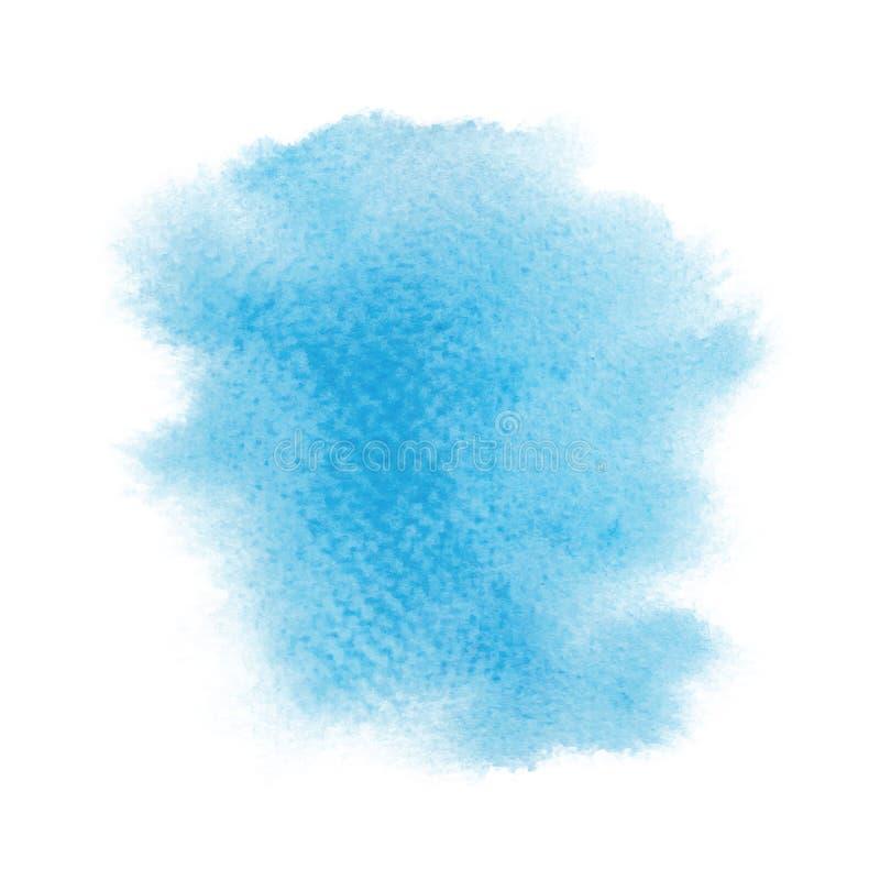 Abstrakt blå vattenfärg på vit bakgrund vektor illustrationer