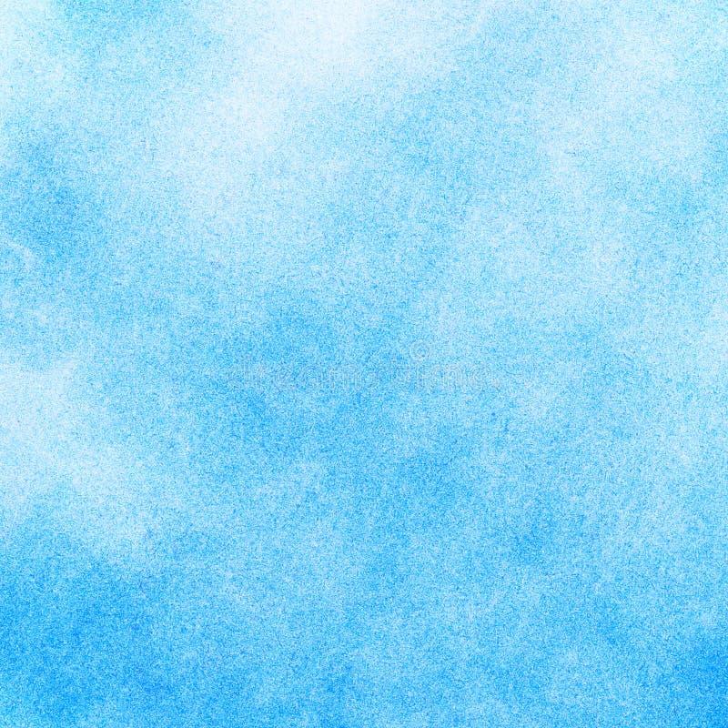 Abstrakt blå vattenfärgbakgrund arkivfoto